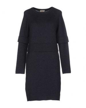 Короткое платье BRUNO MANETTI. Цвет: темно-синий