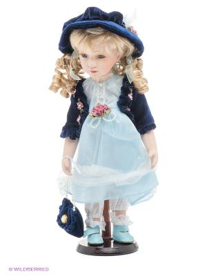 Кукла фарфоровая Мария Lisa Jane. Цвет: бледно-розовый, белый, синий