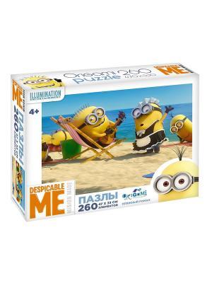 Minions. Пазл 260 элементов Пляжный роман в чемоданчике. Minions. Цвет: желтый, голубой, коричневый