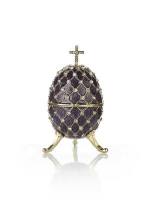 Шкатулка яйцо на подставке Holy Land Collections. Цвет: сиреневый