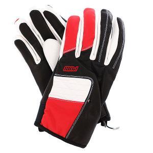 Перчатки сноубордические  Villain Glove Red Pow. Цвет: белый,черный,красный