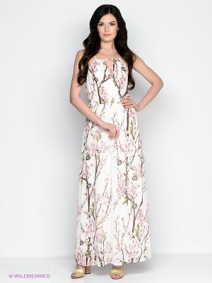 Платье Vis-a-vis. Цвет: белый, коричневый, красный