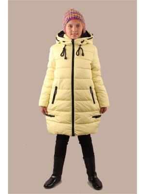 Пальто Fobs. Цвет: желтый