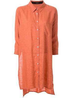 Удлиненная рубашка Loveless. Цвет: жёлтый и оранжевый