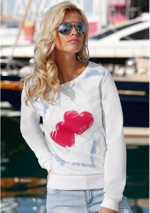 Пуловер Y.O.U.. Цвет: белый с рисунком