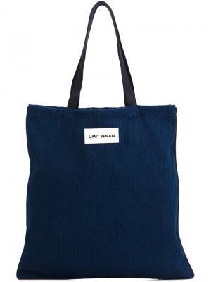 Сумка-шоппер Umit Benan. Цвет: синий