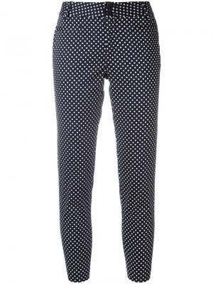 Укороченные брюки с узором в горох Steffen Schraut. Цвет: синий