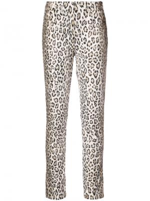 Slim-fit trousers Gabriela Hearst. Цвет: коричневый