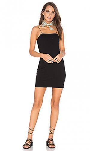 Платье со шлейками Lisakai. Цвет: черный