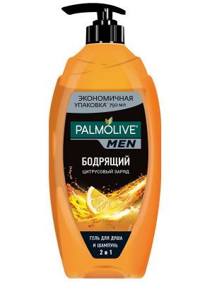 Палмолив Гель для душа Цитрусовый заряд мужской 750мл PALMOLIVE. Цвет: оранжевый