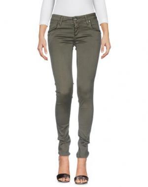 Джинсовые брюки SHAFT. Цвет: зеленый-милитари