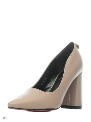 Туфли VIVIAN ROYAL. Цвет: светло-серый