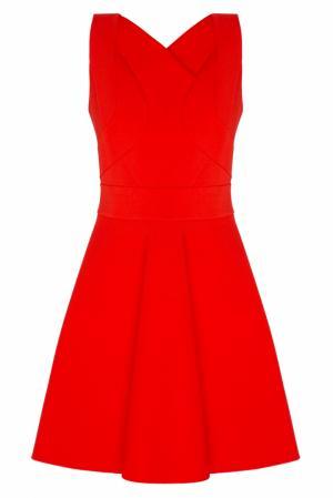 Однотонное платье NATALIA GART. Цвет: красный