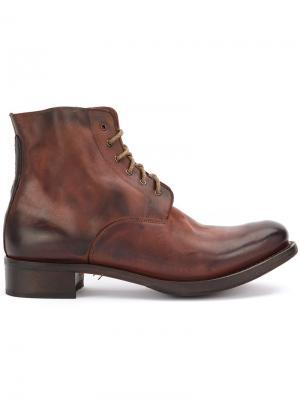Ботинки на шнуровке Cherevichkiotvichki. Цвет: коричневый