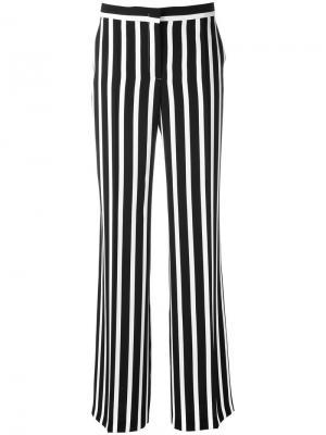Полосатые широкие брюки Alberta Ferretti. Цвет: синий