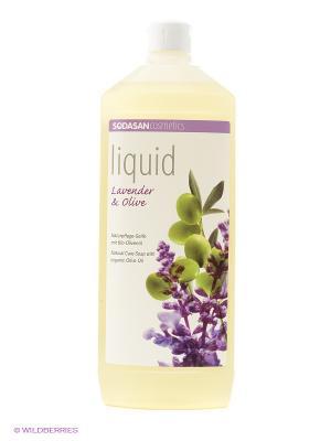 Жидкое мыло лаванда-олива , 1 литр Sodasan. Цвет: прозрачный