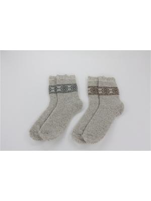Носки, 2 пары Гамма. Цвет: светло-бежевый