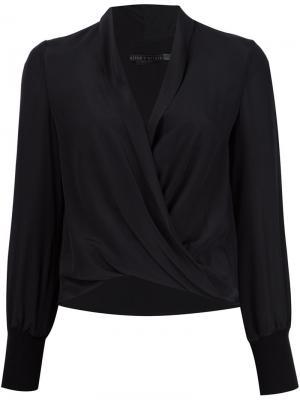 Блузка с запахом Alice+Olivia. Цвет: чёрный