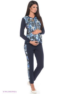 Костюм для беременных ФЭСТ. Цвет: синий, темно-синий