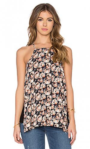 Блуза с принтом и пряжками thea Bishop + Young. Цвет: черный