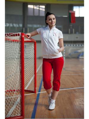 Спортивные костюмы FOR REST. Цвет: белый, малиновый