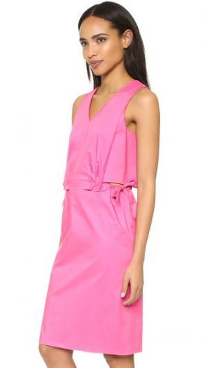 Платье David O'2nd. Цвет: ярко-розовый