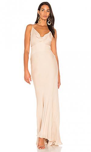 Вечернее платье с корсетом trip Haute Hippie. Цвет: беж