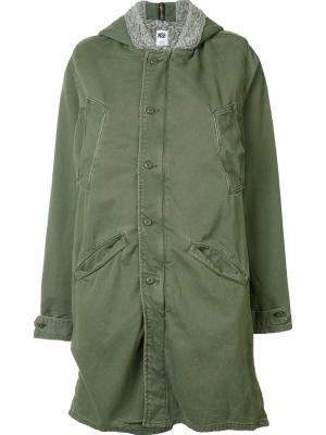 Куртка с капюшоном NSF. Цвет: зелёный