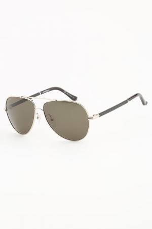 Очки солнцезащитные Salvatore Ferragamo. Цвет: серебристый