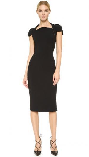 Платье с короткими рукавами Antonio Berardi. Цвет: голубой