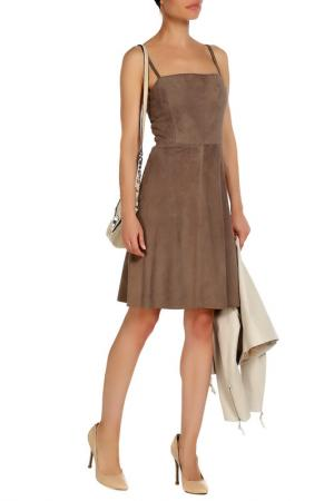 Платье Izeta. Цвет: бежево-серый