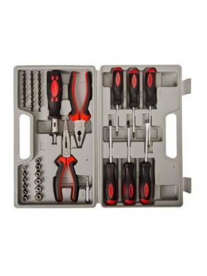 Набор инструментов универсальный Ермак. Цвет: черный, серый, красный