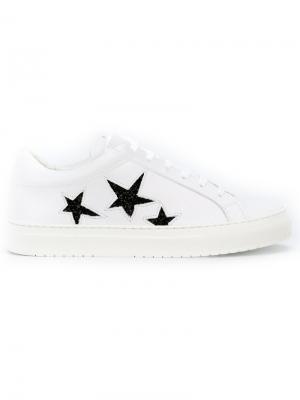 Кроссовки с принтом звезд Nubikk. Цвет: белый