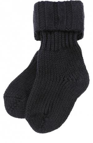 Вязаные носки Falke. Цвет: синий