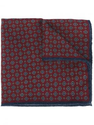 Жаккардовый карманный платок Hackett. Цвет: красный