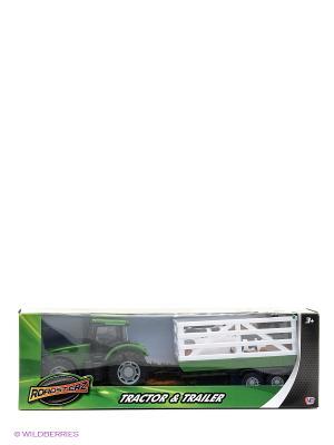 Трактор с прицепом Зеленый HTI. Цвет: зеленый