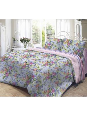 Комплект постельного белья, Полина Волшебная ночь. Цвет: голубой