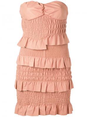 Платье с оборками Drome. Цвет: розовый и фиолетовый