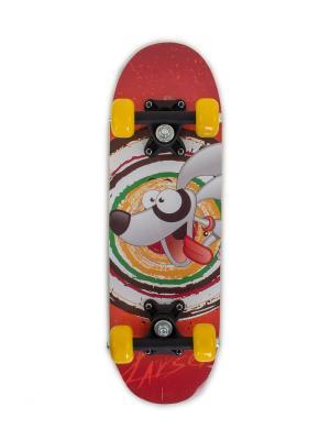 Скейтборд KIDS 2 Larsen. Цвет: красный, желтый, белый