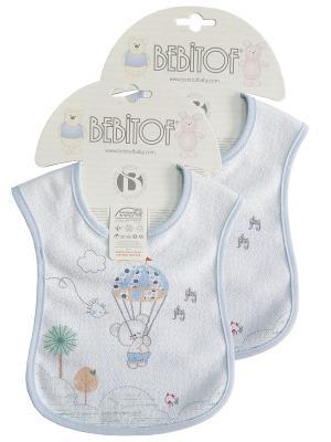 Набор слюнявчинов 2 шт Bebitof Baby. Цвет: голубой