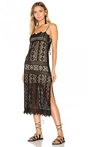 Платье с клапаном caparra Jens Pirate Booty Jen's. Цвет: черный