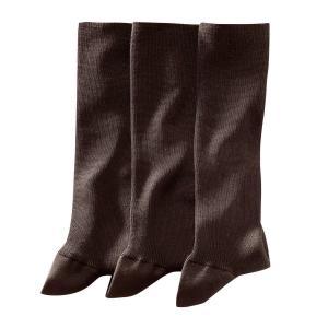 3 пары носков, 85% фильдекоса La Redoute Collections. Цвет: каштановый