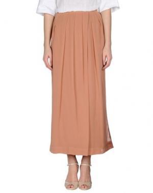 Длинная юбка SO NICE. Цвет: светло-коричневый