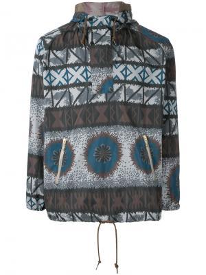Толстовка с капюшоном и карманами на молнии Kolor. Цвет: многоцветный