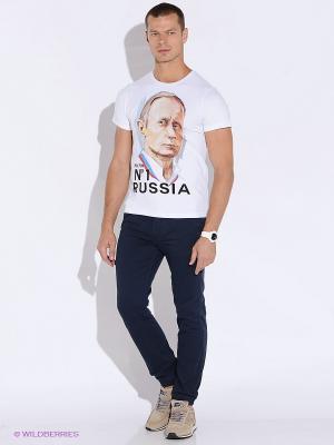 Футболка Putin N1 Russia Alexander Konasov. Цвет: белый
