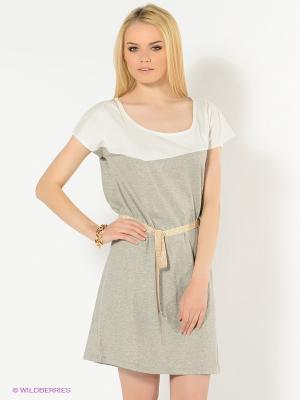 Платье American Outfitters. Цвет: серый, белый, золотистый