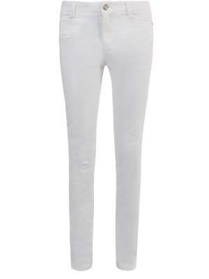 Зауженные джинсы ERMANNO SCERVINO. Цвет: белый