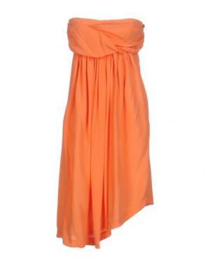Короткое платье E-GÓ. Цвет: лососево-розовый