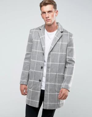 Another Influence Пальто в клетку. Цвет: серый