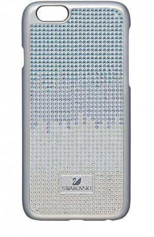 Чехол Thao Silver для iPhone 6/6S Swarovski. Цвет: серый